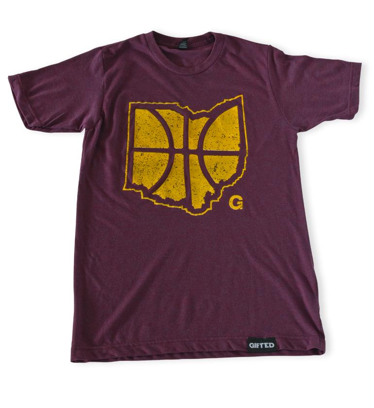 Ohio Basketball Maroon Tee