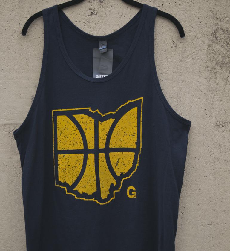 Basketball Tank: Unisex Navy